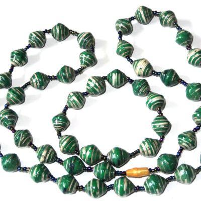 Just In Love Green Necklace Bracelet Set