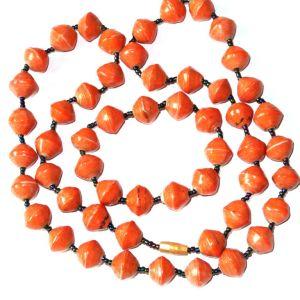 Handmade Sumptuous Candy Orange Necklace Bracelet Set