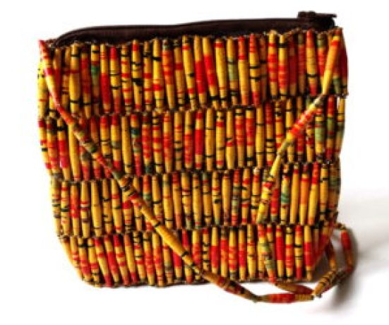 Handmade Vintage Yellow Red Bead Handbags