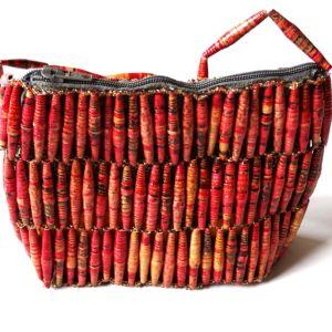 Handmade Beaded Luscious Red Bead Handbags