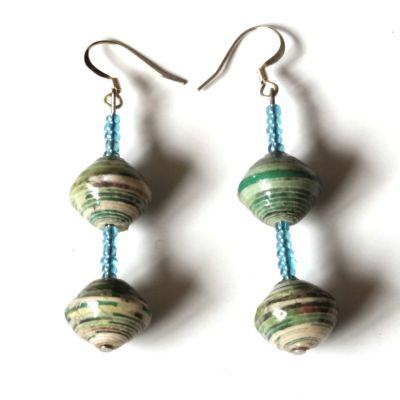 Handmade Indulgent Green Earring