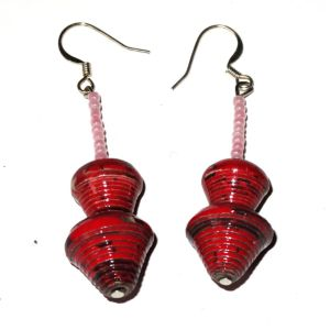 Handmade Hot Red Earring
