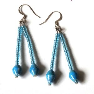 Handmade Angelic Blue Earring