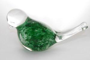 Glass Bird Green Coloured