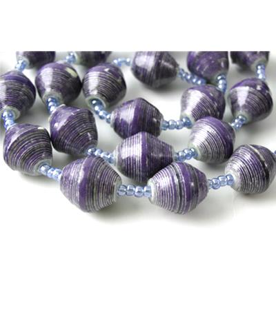 Dark Purple Bead Necklace