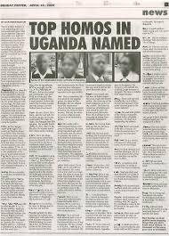 Giornale con i nomi