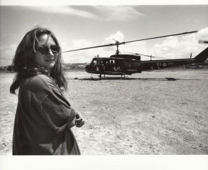Ilaria davantio a elicottero