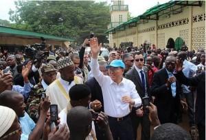 Ban Ki a Bangui