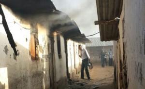 casa bruciata