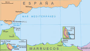 Mappa Ceuta e Melilla