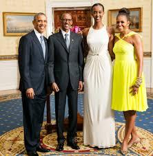 Obama Kagame e la figlia di Kagame