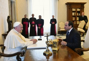 Abdel Fattah al-Sisi con il Papa