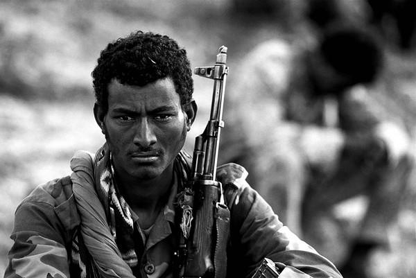 Eritrean soldiers in Adi-Quala, Eritrea.