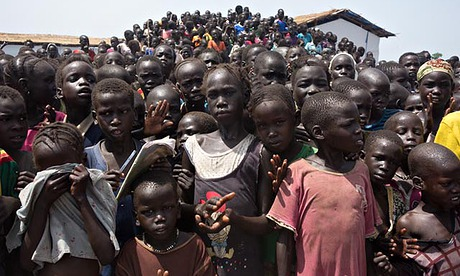 MDG : South Sudan children in in one of refugees camps in Gambella province of Ethiopia