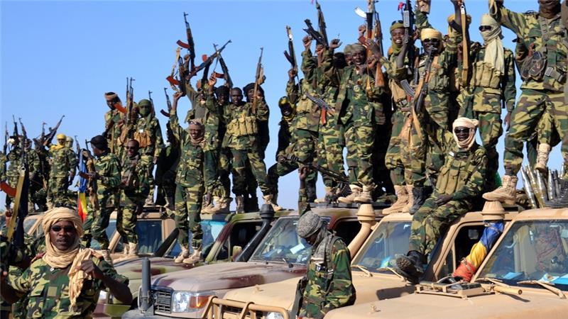 Un gruppo di militanti di Boko Haram