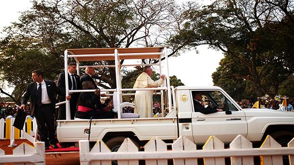 Bangui, Papa Bergoglio (Foto per gentile concessione di Giorgio Algeri)