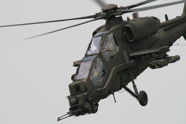 Un elicottero Mangusta prodotto dalla Agusta Westland