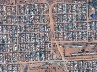 Vista dal satellite del Campo profughi Dadaab (courtesy Google Map)