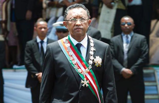 Il presidente della Repubblica Hery Rajaonarimampianina