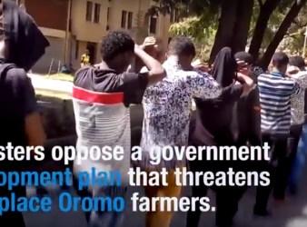 Protesta pacifica della popolazione Oromo stroncata nel sangue (courtesy Hrw)