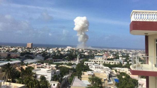 Il fungo di fumo provocato da una delle due esplosioni