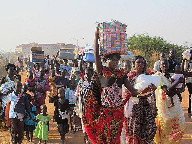 IDP at UN compound in Juba in South Sudan