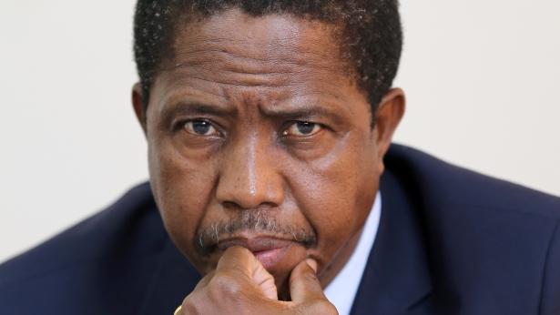 Il presidente rieletto Edgar Lungu