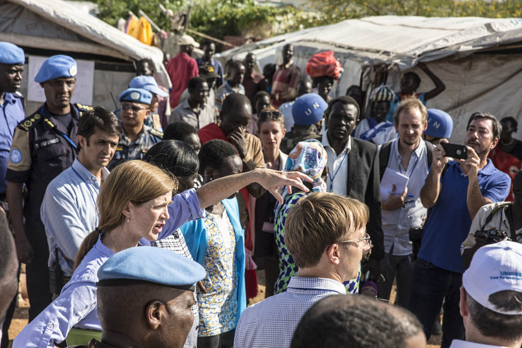 The United Nations Council members visit UNMISS Protection of Civilians sites, in Juba and meet with internally displaced people and see for themselves the prevailing humanitarian and security conditions.