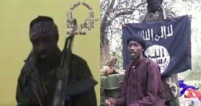 Abubakar Shekau (sinistra), il nuovo leader dei Boko Haram, Abu Musab al-Barnawi (destra)
