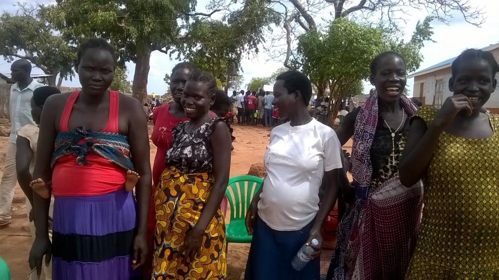 Donne sudsudanesi incinte rifugiate in Uganda