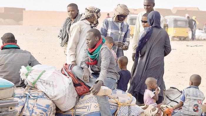 Profughi in attesa di partire a Agadez, Niger