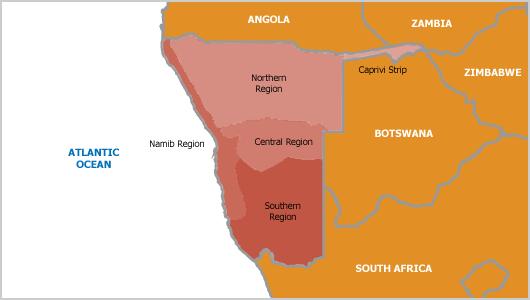 La striscia di Caprivi in Namibia, rivendicata dai rifugiati politici come nazione indipendente