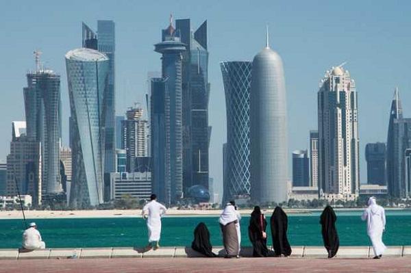La skyline del Qatar.