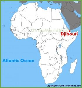 Mappa Gibuti in africa