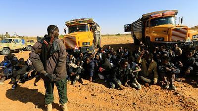 Migranti intercettati al confine tra Sudan e Libia