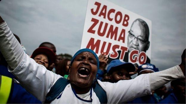 Manifestazione contro il presidente del Sudafrica Jakob Zuma