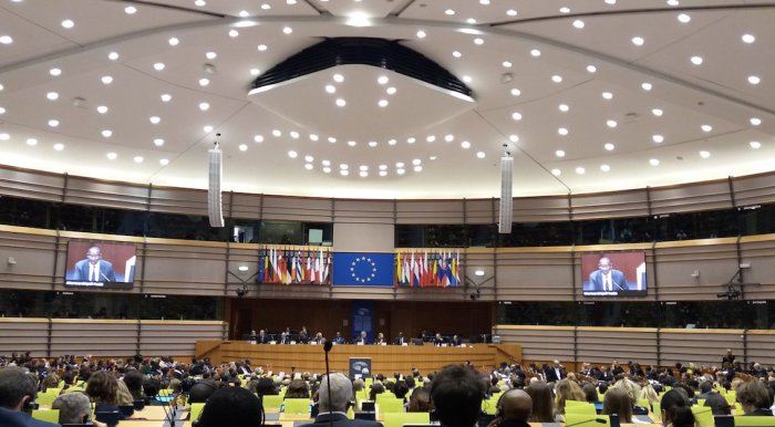 Emiciclo del Parlamento europeo (foto © Sandro Pintus)