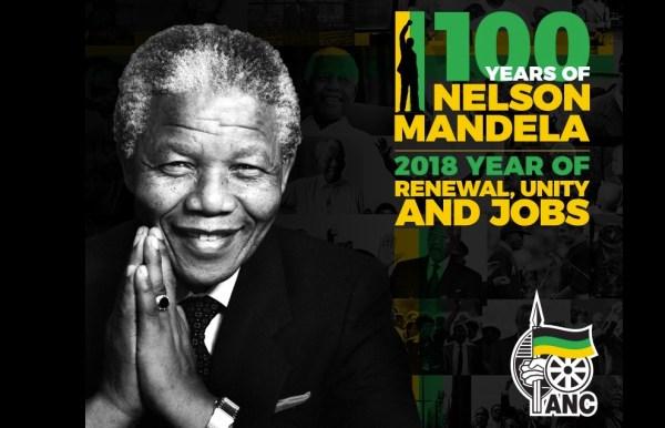 Nel sito dell'Anc si celebrano i 100 anni della nascita di Nelson Mandela, fondatore del partito