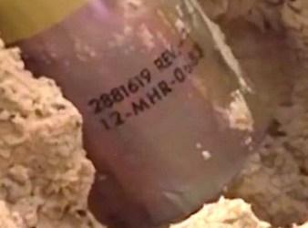 Matricola della bomba a grappolo (Courtesy Amnesty International)