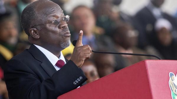 L'attuale presidente della Tanzania, John Magufuli