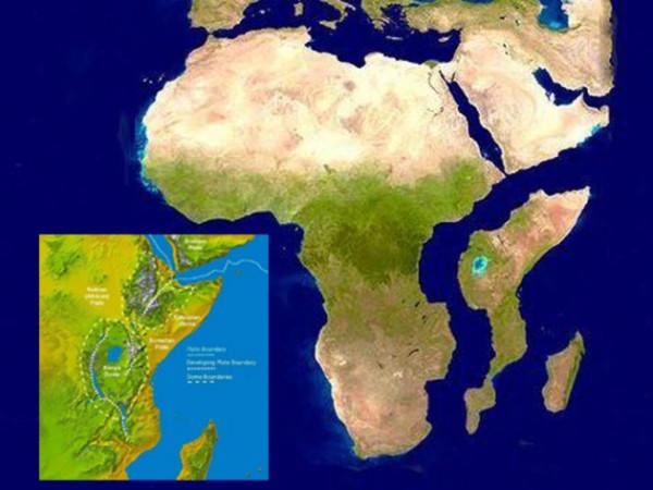 Così, secondo le previsioni, si staccherà, tra 50 milioni di anni. l'Africa Orientale dal continente