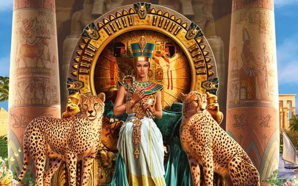 Cleopatra che nel 69 a.C. diviene regina d'Egitto unendosi al fratello Tolomeo di soli 12 anni