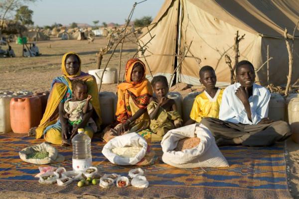 Famiglia rurale ciadiana
