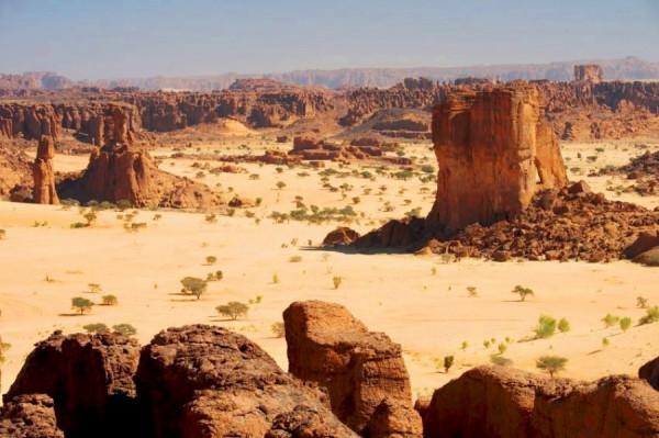 Zona desertica del Ciad