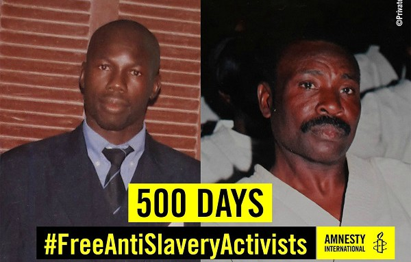 Moussa Bilal Biram e Abdellahi Matalla Saleck, due militanti anti-schiavismo in Mauritania