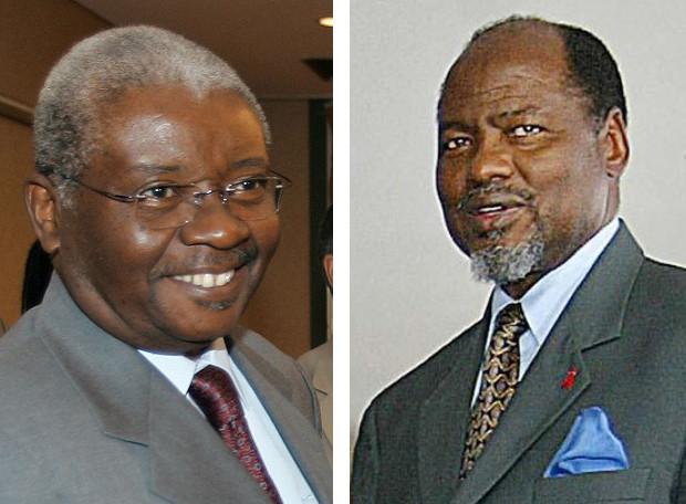 Da sin: Armando Guebuza e Joaquim Chissano, ex presidenti del Mozambico