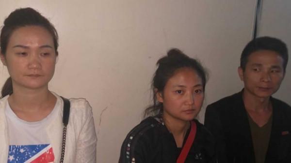 Alcune delle persone arrestate per prostituzione
