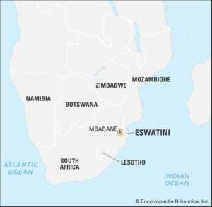 Mappa dello Swaziland 2