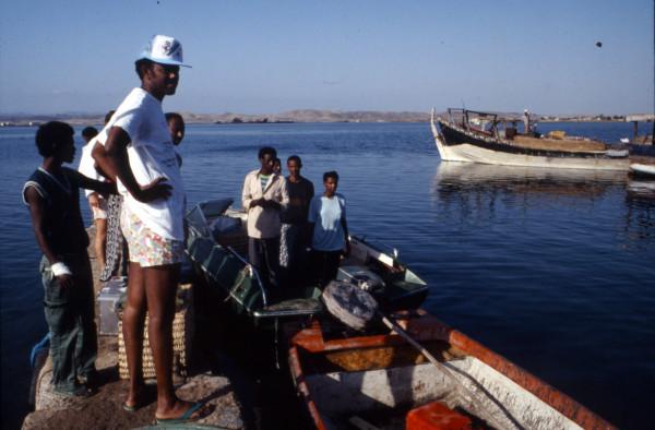 Una delle ultime fotografie di Petros Solomon. E' stata scattata a Massawa nel 1992 quando era stato nominato ministro della Pesca e Risorse marittime