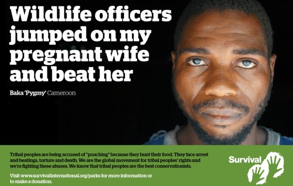 """""""I guardiaparco sono saltati sopra mia moglie incinta e l'hanno picchiata"""" Testimonianza di un pigmeo Baka (Courtesy Amnesty International)"""